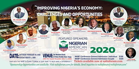 The 2020 Nigerian American Business Forum (NABF) Annual Conference tickets