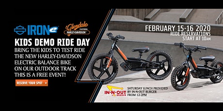 KIDS DEMO RIDE! The NEW Harley-Davidson Electric Balance Bike tickets