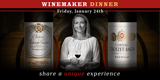 Winemaker Dinner with Anne-Francoise Quie, owner of 2 Grand Crus Classes