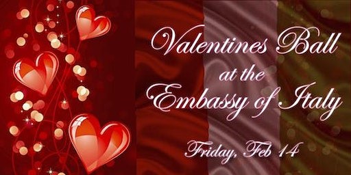 Black Tie Valentine's Gala at the Embassy of Italy