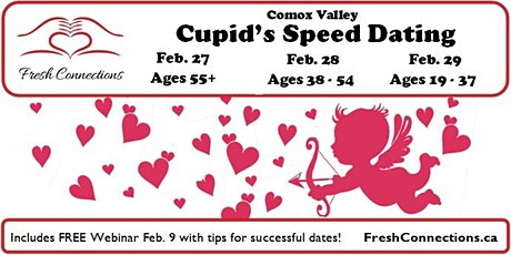 Cupid's Speed Dating in Comox Valley tickets