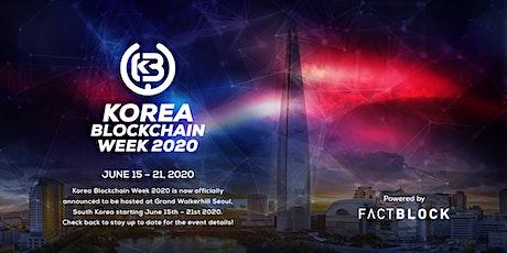 Korea Blockchain Week 2020 tickets
