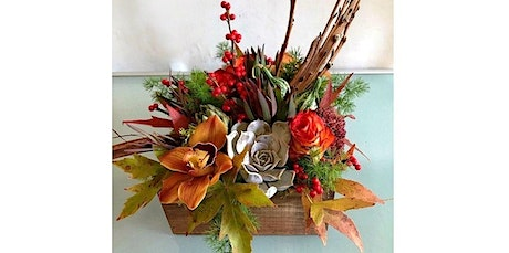 Fall Texture Box Floral Arrangement Class - November 5th (11-05-2020 starts at 6:00 PM) tickets