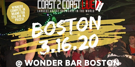 Coast 2 Coast LIVE Artist Showcase Boston, MA - Artists Win $50K In Prizes! tickets