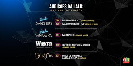 Audições para Grupos de Talento e Cursos de Montagem da Lalu ingressos