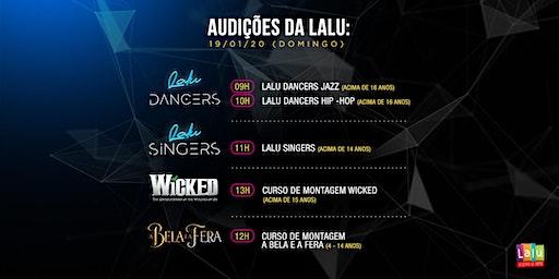 Audições para Grupos de Talento e Cursos de Montagem da Lalu