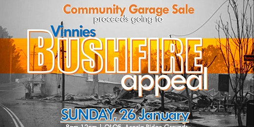 Community Garage Sale: A Bushfire Appeal