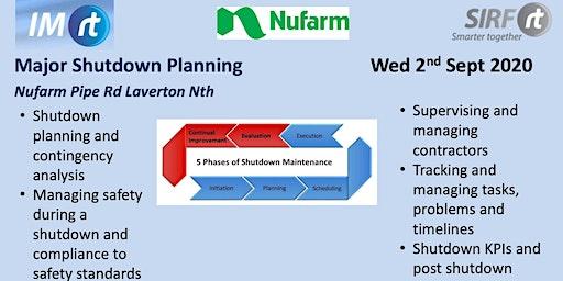 VICTAS Major Shutdown Planning - Nufarm Laverton