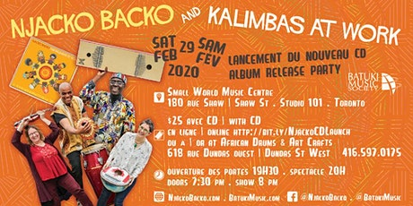 Njacko Backo and Kalimbas At Work CD Launch: A Tous Les Enfants De La Terre tickets