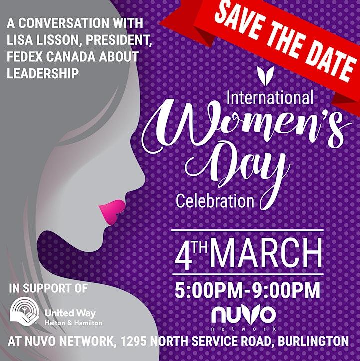International Women's Day Celebration - Burlington image