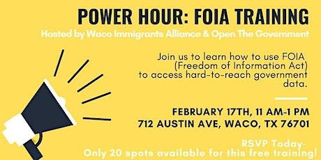 POWER HOUR: FOIA Training tickets