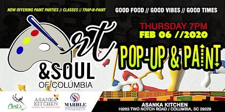 Art & Soul of Columbia - Pop-Up & Paint 02/06 tickets