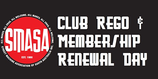 SMASA Club Rego, Monday 20th January 2020, 6:30pm to 7:00pm
