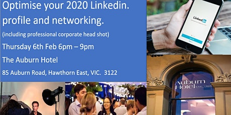 VIC: Optimise your LinkedIn Profile and Networking Event incl Corp Headshot tickets