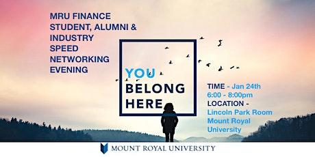 MRU Finance Student, Alumni & Industry Speed Networking Evening tickets