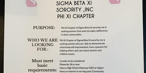 SIgma Beta Xi -Phi Xi interest meeting