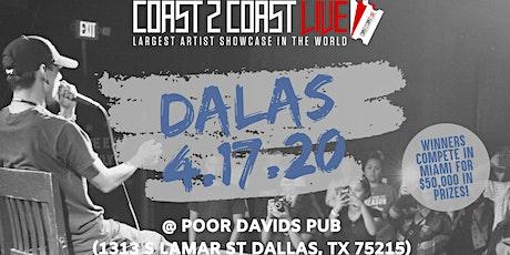 Coast 2 Coast LIVE Showcase Dallas, TX - Artists Win $50K In Prizes tickets