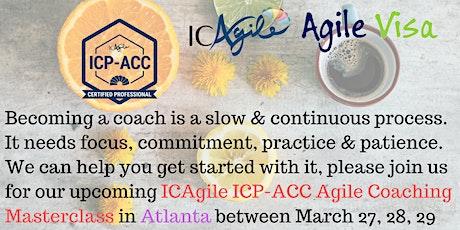ICAgile ICP-ACC Agile Coach Certification Workshop - Atlanta, GA tickets