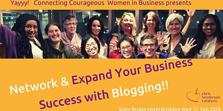 Network & Expand your Business Success with Blogging tickets
