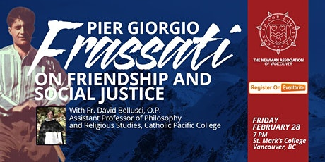 Pier Giorgio Frassati on Friendship and Social Justice tickets