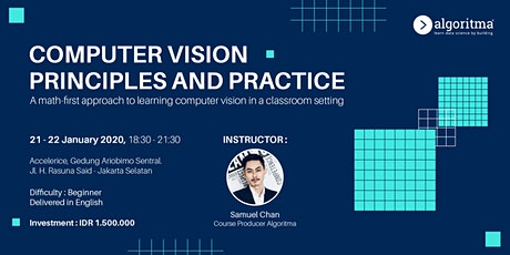 Data Science Classroom: Computer Vision Principles and Practice tickets