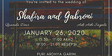 Shafira - Gabroni Wedding Day tickets