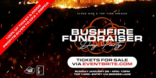 Cloud Nine .  BUSHFIRE FUNDRAISER .  Australia Day Party [January 26]