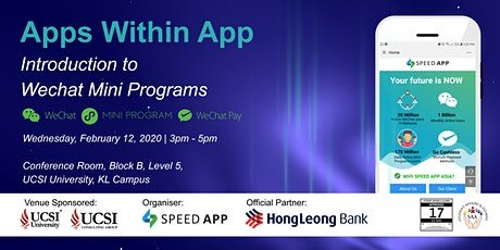 Apps within App - Introduction to WeChat Mini Programs tickets