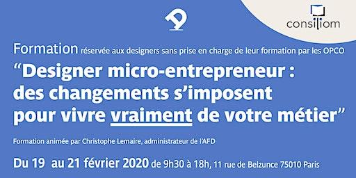 Formation pour designer micro-entrepreneur : des changements s'imposent !