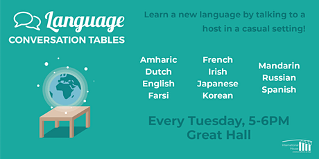 Language Conversation Tables Winter 2020 tickets
