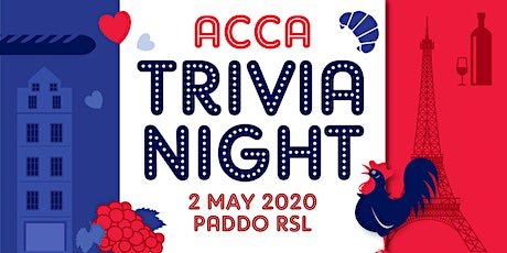 "ACCA ""FRACCA"" Trivia Night  tickets"