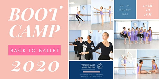 Victorian Ballet School Darebin Back to Ballet Boot Camp 2020