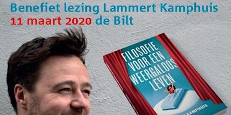 Lezing Lammert Kamphuis bestseller schrijver filosofie tickets