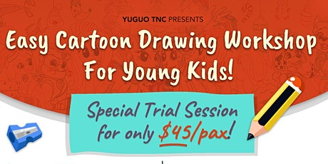 Easy Cartoon Drawing Workshop For Young Kids tickets