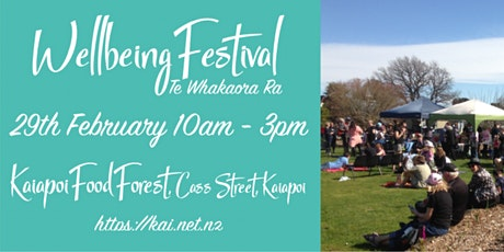 Wellbeing Festival tickets