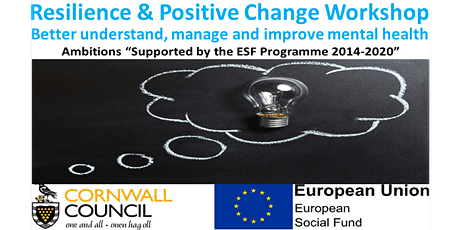Resilience and Positive Change Workshop - taught over 5 half day sessions tickets