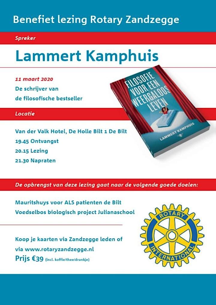 Afbeelding van Lezing Lammert Kamphuis bestseller schrijver filosofie