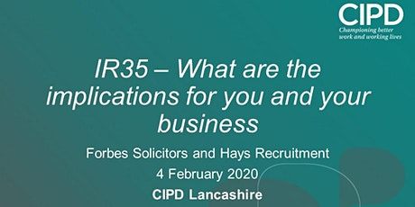 IR35 - What are the implications for you and your business? tickets
