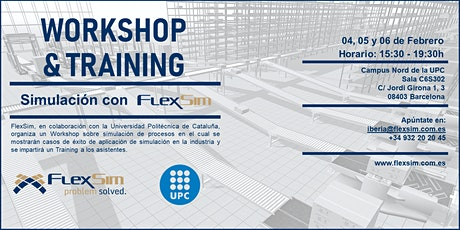 FlexSim Workshop y Training en la UPC entradas
