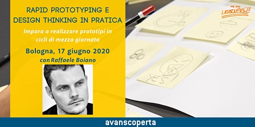 Rapid Prototyping e Design Thinking in pratica 2020