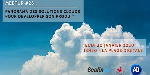MEETUP#28 - Panorama des solutions clouds pour développer son produit