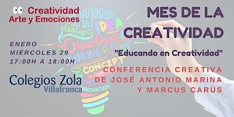 Conferencia creativa de José Antonio Marina y Marcus Carús entradas