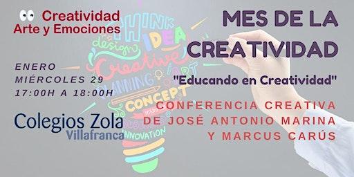 Conferencia creativa de José Antonio Marina y Marcus Carús