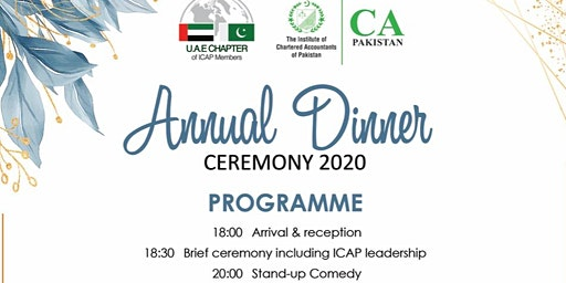 Annual Dinner Ceremony I UAE Chapter of ICAP Members I 31 January 2020