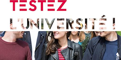 """""""TESTEZ L'UNIVERSITÉ"""" UCO ANGERS 18-19 et 20 FEVRIER 2020"""