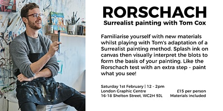 Art Workshop- Rorschach: Surrealist painting with Tom Cox tickets