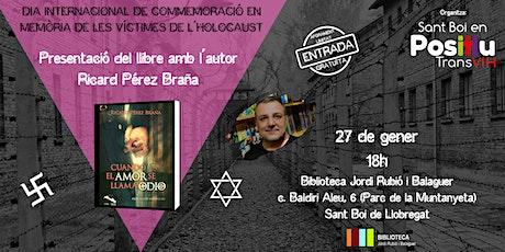 """Presentació llibre """"Cuando el Amor se Llama Odio"""" entradas"""