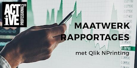 Uitnodiging Qlik NPrinting bijeenkomst tickets