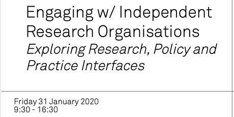 Engaging with IROs: Exploring Research, Policy and Practice Interfaces tickets