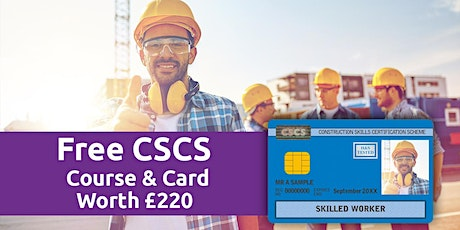 Portsmouth Free CSCS Construction course with Free CSCS card  worth £210 tickets